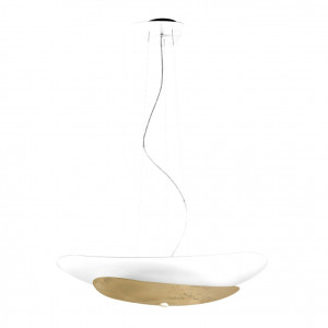 Linea Light - Moledro - Moledro P SP - Lampada a sospensione di design - Bianco/Oro - LS-LL-90318