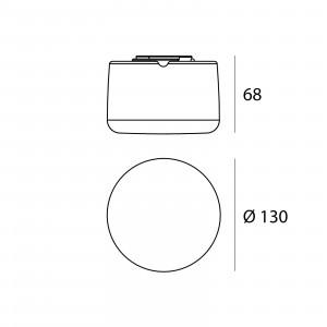 Linea Light - My White - MiniWhite R AP PL LED - Applique e plafoniera a Led rotonda