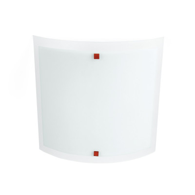 Linea Light - Nove 99 - Lampada a parete o soffitto Nove 99 L - Ciliegio - LS-LL-71228