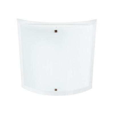 Linea Light - Nove 99 - Lampada a parete o soffitto Nove 99 L - Nichel satinato - LS-LL-71202
