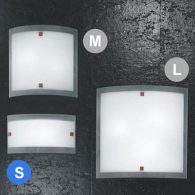 Linea Light - Nove 99 - Lampada a parete o soffitto Nove 99 S - Ciliegio - LS-LL-71230
