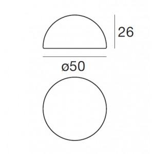 Linea Light - Ohps! - Ohps! - Lampada da terra a forma di mezza sfera S
