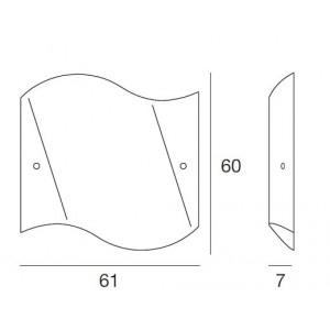 Linea Light - Onda - Onda M - Applique quadrata a muro