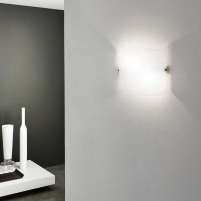 Linea Light - Onda - Onda M - Lampada rettangolare da parete