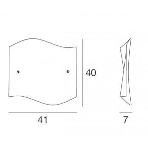 Linea Light - Onda - Onda S - Applique quadrata a muro