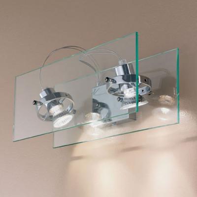 Linea Light - Orbis - Applique a 2 faretti per parete Orbis - Trasparente - LS-LL-4602