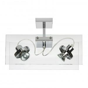 Linea Light - Orbis - Lampada a 2 faretti per soffitto/parete Orbis - Trasparente - LS-LL-4609
