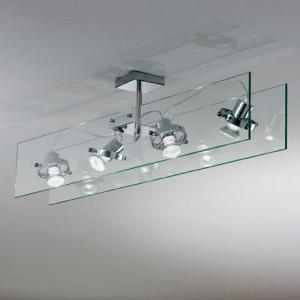 Linea Light - Orbis - Lampada a 4 faretti per soffitto Orbis - Trasparente - LS-LL-4606