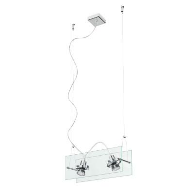 Linea Light - Orbis - Lampadario a 2 faretti a sospensione Orbis - Trasparente - LS-LL-4610