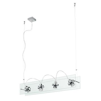 Linea Light - Orbis - Lampadario a 4 faretti a sospensione Orbis - Trasparente - LS-LL-4604