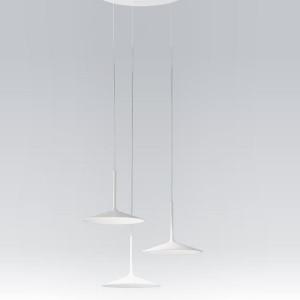 Linea Light - Poe - Poe P3 PL LED - Lampadario moderno a tre luci - Bianco -  - Bianco caldo - 3000 K - Diffusa