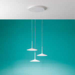 Linea Light - Poe - Poe P3 PL LED - Lampadario moderno a tre luci