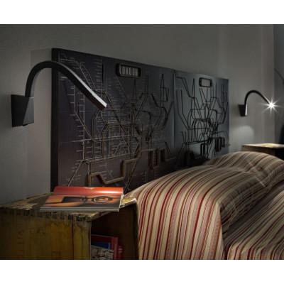 Linea Light - Snake - Snake LED - Applique led per illuminazione comodino con interruttore
