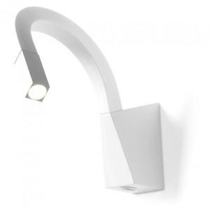 Linea Light - Snake - Snake LED - Applique led per illuminazione comodino con interruttore - Bianco -  - Bianco caldo - 3000 K - Diffusa