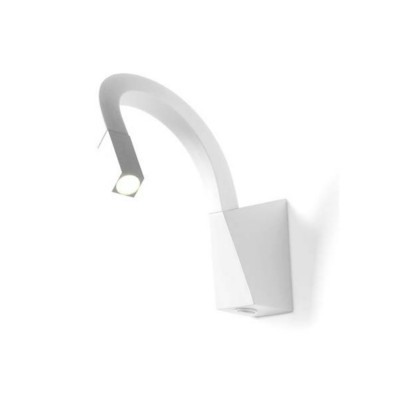 Linea Light - Snake - Snake LED - Applique led per illuminazione comodino con interruttore