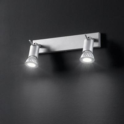Linea Light - Spotty - Spotty - Lampada a parete o soffitto a due luci orientabili - Grigio - LS-LL-7346