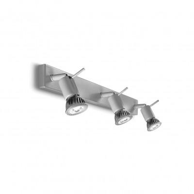 Linea Light - Spotty - Spotty - Lampada a parete o soffitto a tre luci orientabili - Grigio - LS-LL-7347