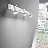 Linea Light - Spotty - Spotty - Lampada a parete o soffitto a tre luci orientabili