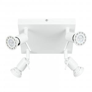 Linea Light - Spotty - Spotty - Lampada da parete o soffitto con 4 luci orientabili - Bianco - LS-LL-7343