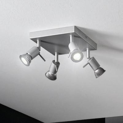 Linea Light - Spotty - Spotty - Lampada da parete o soffitto con 4 luci orientabili - Grigio - LS-LL-7348