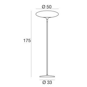 Linea Light - Squash LED - Squash LED - Piantana a luce LED