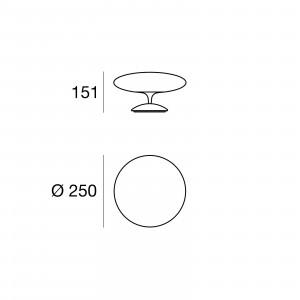 Linea Light - Squash LED - Squash TL S - Lampada da tavolo a luce LED misura S