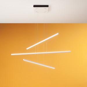 Linea Light - Straight - Straight P3 SP LED S - Lampadario moderno a tre luci misura S