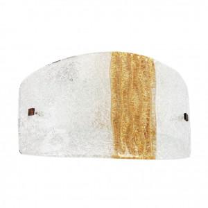 Linea Light - Syberia - Applique moderna a parete Syberia cristallo e ambra S