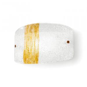 Linea Light - Syberia - Applique moderna a parete Syberia cristallo e ambra S - Vetro artistico/ambra - LS-LL-4524