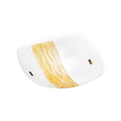 Linea Light - Syberia - Plafoniera e applique Syberia cristallo e ambra L - Vetro artistico/ambra - LS-LL-4491