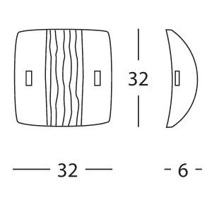 Linea Light - Syberia - Plafoniera e applique Syberia cristallo e ambra M