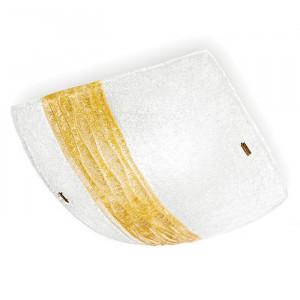 Linea Light - Syberia - Plafoniera e applique Syberia cristallo e ambra XL - Vetro artistico/ambra - LS-LL-4492
