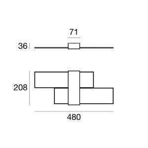 Linea Light - Triad - Triad 2.0 AP LED - Applique dal design moderno a luce LED