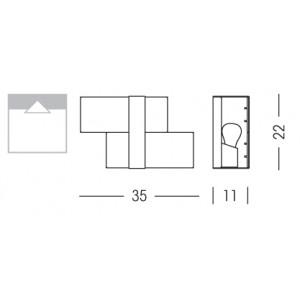 Linea Light - Triad - Triad - Lampada a parete due vetri S