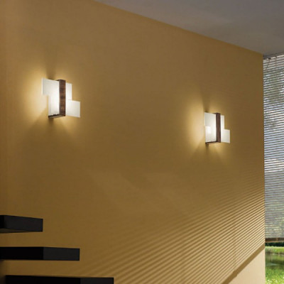 Linea Light - Triad - Triad - Lampada da parete noce S