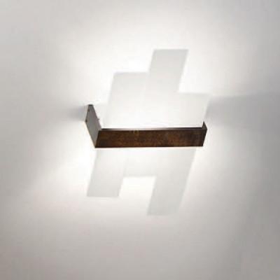 Linea Light - Triad - Triad - Lampada da parete noce tre vetri M