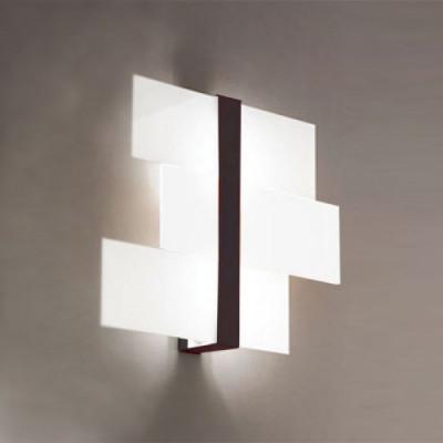 Linea Light - Triad - Triad - Plafoniera noce parete tre vetri S