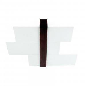Linea Light - Triad - Triad - Plafoniera noce soffitto tre vetri M