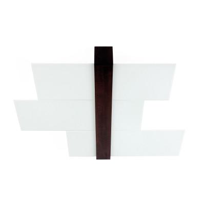 Linea Light - Triad - Triad - Plafoniera noce soffitto tre vetri M - Wengè - LS-LL-90231