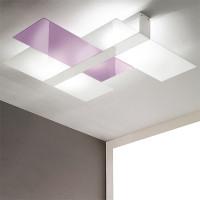 Linea Light - Triad - Triad - Plafoniera soffitto tre vetri M