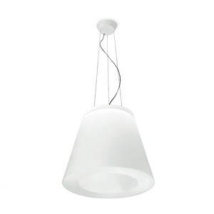 Linea Light - Vulcanino e Vulcanone - Vulcanino & Vulcanone LED SP M - Sospensione a forma di cono tronco - Natural -  - Bianco caldo - 3000 K - Diffusa