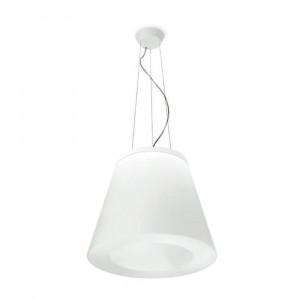 Linea Light - Vulcanino e Vulcanone - Vulcanino & Vulcanone LED SP S - Lampada a sospensione di design - Natural -  - Bianco caldo - 3000 K - Diffusa