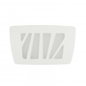 Linea Light - Zebra - Zebra S AP PL LED M - Applique e plafoniera quadrata misura M - Bianco -  - Bianco caldo - 3000 K - Diffusa