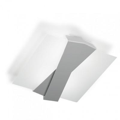 Linea Light - Zig Zag - Zig Zag - Plafoniera da soffitto e a parete M - Alluminio anodizzato - LS-LL-7291