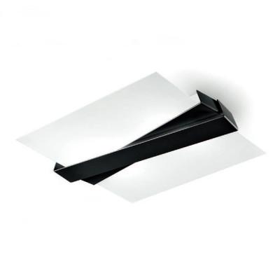 Linea Light - Zig Zag - Zig Zag - Plafoniera da soffitto e a parete M - Nero - LS-LL-7289