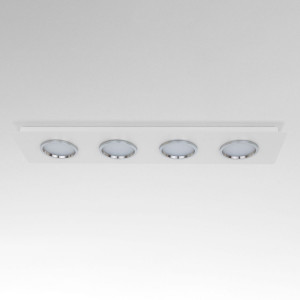 Lumen Center - Brick e Brac - Brick Lineare 4 PL - Plafoniera quattro luci LED rettangolare