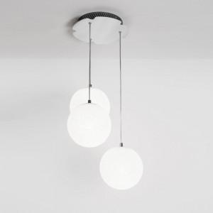 Lumen Center - Iceglobe Mini - Iceglobe Mini Bubble SP 3 S - Sospensione da tre luci