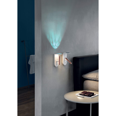 Ma&De - 2Nights - 2Nights W2 AP LED on/off switch - Lampada a parete a Led con interruttore on/off integrato