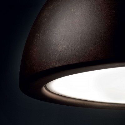 Ma&De - Entourage - Entourage P1 SP S LED - Lampadario piccolo a cupola a luce LED dimmerabile - Corten -  - Warm Tune - Diffusa