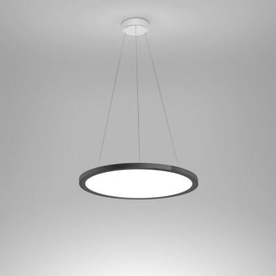 Ma&De - Hinomaru - Hinomaru P SP LED S - Lampadario di design misura S - Nichel nero - LS-LL-8614 - Bianco caldo - 3000 K - Diffusa